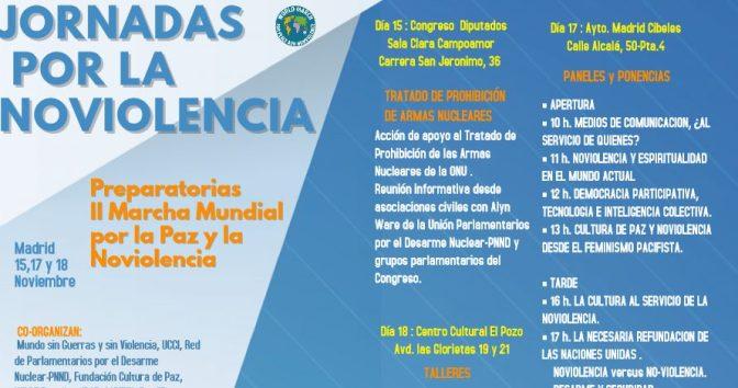 JORNADAS POR LA NOVIOLENCIA – Madrid 2017 // Congreso – Cibeles – El Pozo